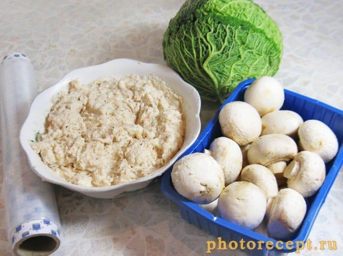 Фото рецепта - Рулет из рыбного муслина с грибами - шаг 1