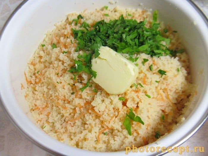Фото рецепта - Кус-кус с морковью и петрушкой - шаг 6