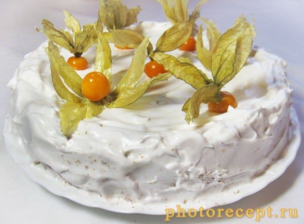 Пирог с творожно-сырной начинкой и физалисом