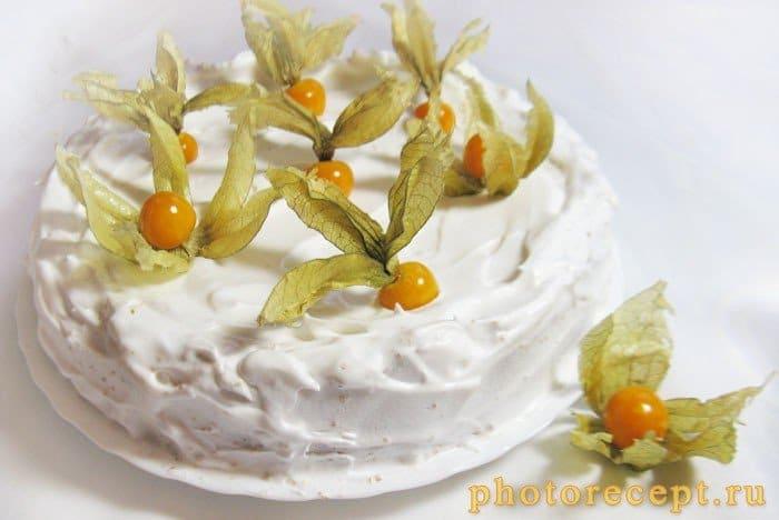Пирог с творожно-сырной начинкой и физалисом - рецепт с фото