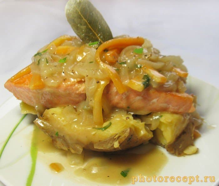 Фото рецепта - Семга под кисло-сладким соусом - шаг 7