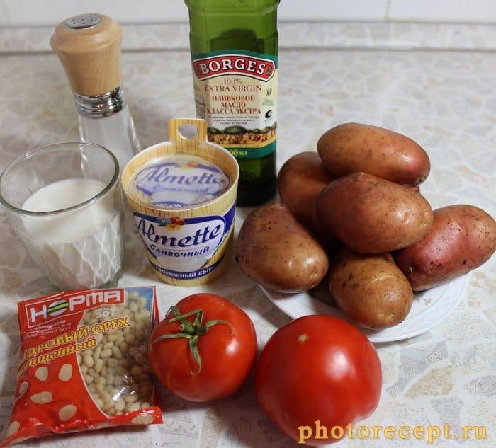 Фото рецепта - Итальянское картофельное пюре с сыром Альметте и томатами - шаг 2