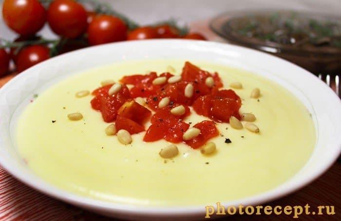 Итальянское картофельное пюре с сыром Альметте и томатами - рецепт с фото