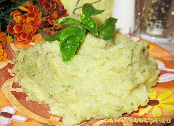 Картофельное пюре с базиликом - рецепт с фото