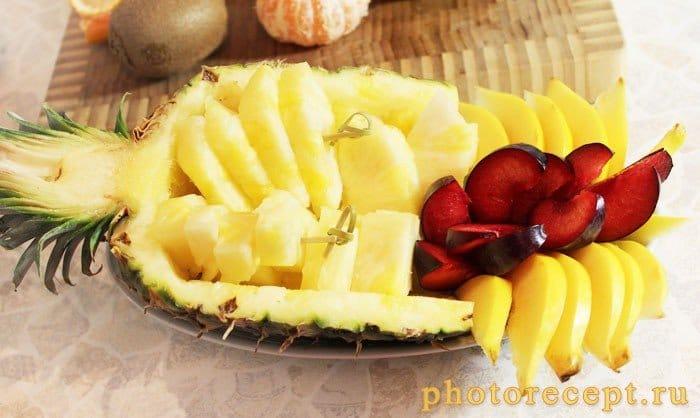 Фото рецепта - Фрукты в ананасе-Рог изобилия - шаг 4