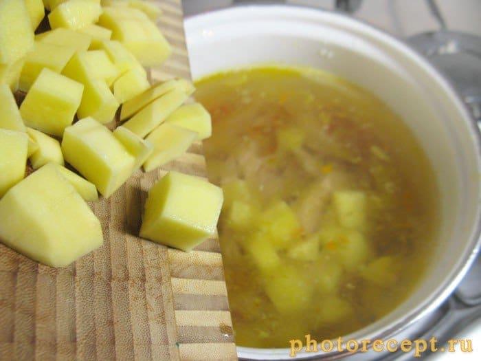 Фото рецепта - Суп из копченой курицы с брокколи и стручковой фасолью - шаг 5