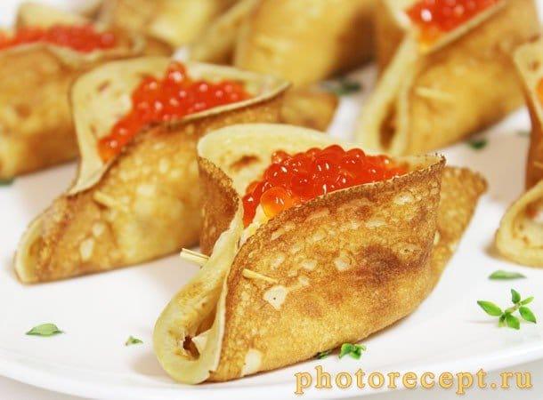 Блины, фаршированные морепродуктами - рецепт с фото