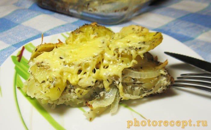 Фото рецепта - Запеченный картофель с копченой грудинкой - шаг 8