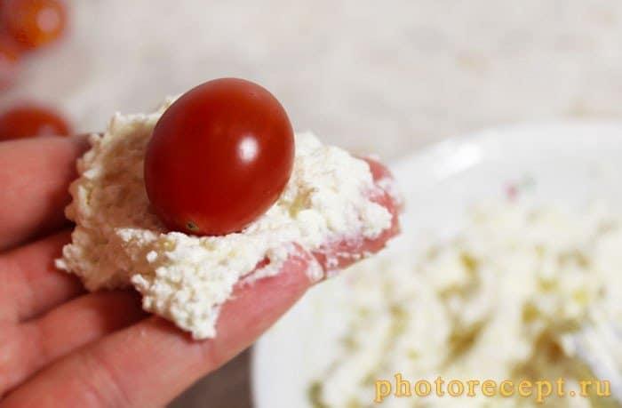 Фото рецепта - Сырная закуска с помидорами черри - шаг 5