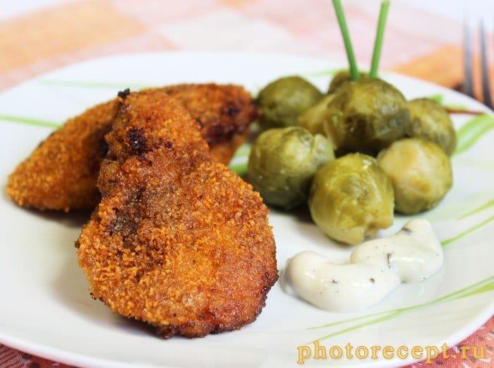 Фото рецепта - Жареная печень индейки в панировке - шаг 7