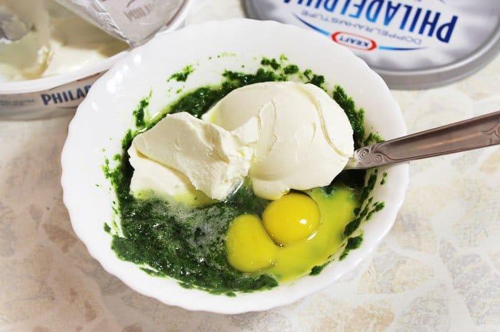 Фото рецепта - Дорадо, фаршированная шпинатом и сыром филадельфия - шаг 4