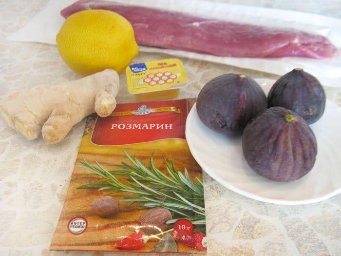 Фото рецепта - Свиная вырезка, фаршированная инжиром - шаг 1