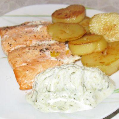 Белый соус Тартар для рыбы - рецепт с фото