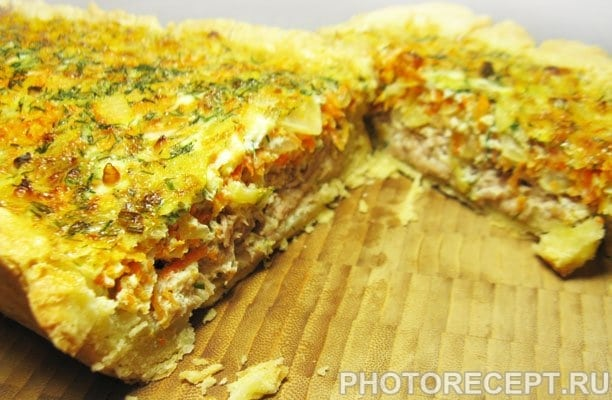 Киш (пирог) с тунцом и морковью