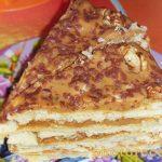 Торт Наполеон из слоеного теста