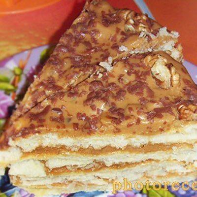 Торт Наполеон из слоеного теста - рецепт с фото