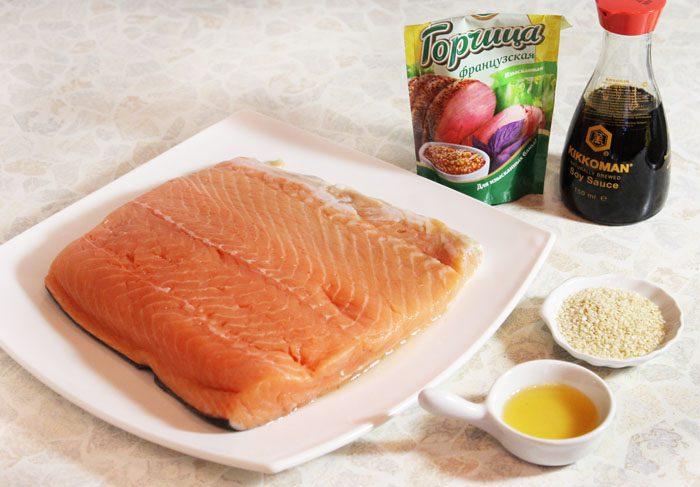 Фото рецепта - Шашлык из рыбы, маринованный в соевом соусе - шаг 1