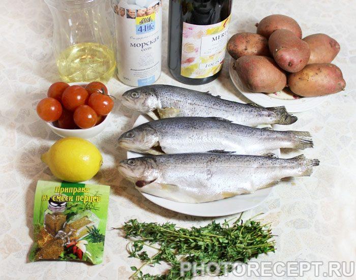 Фото рецепта - Запеченная в духовке рыба, с картофелем и вином - шаг 1