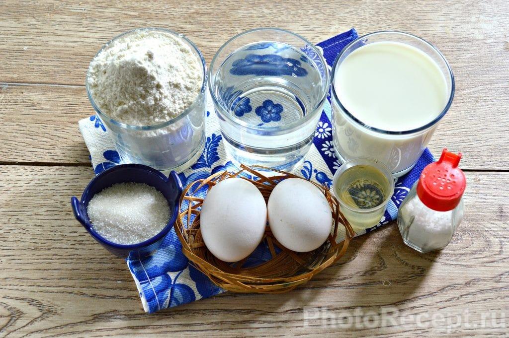 Фото рецепта - Блины на молоке и воде - шаг 1