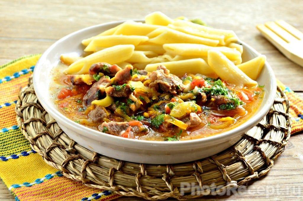Фото рецепта - Овощное рагу с бараниной - шаг 9