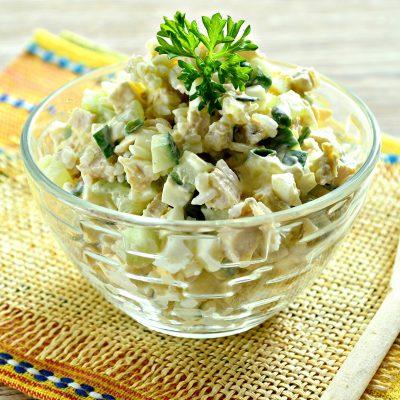 Салат с курицей и рисом - рецепт с фото