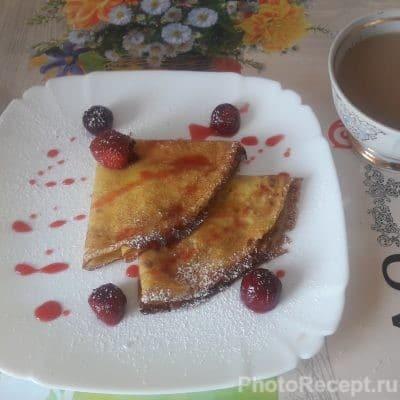 Сладкие ванильные блины к чаю - рецепт с фото