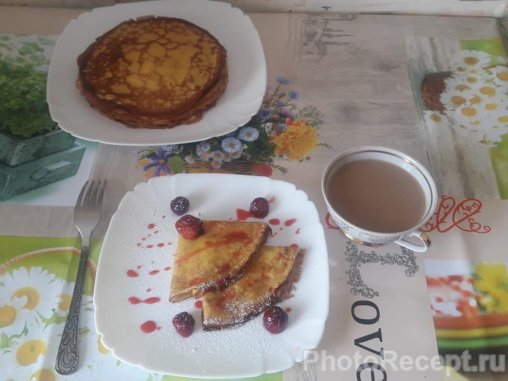 Фото рецепта - Сладкие ванильные блины к чаю - шаг 6