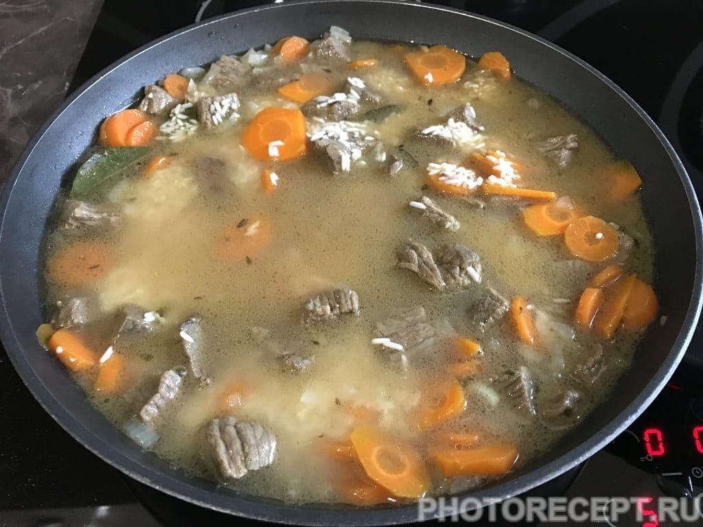 Фото рецепта - Нежный плов из говядины - шаг 5