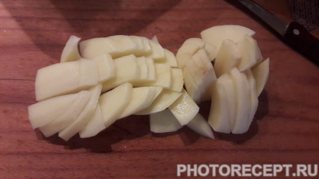 Фото рецепта - Жаренная картошка с мясом на сале - шаг 6