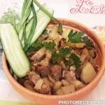 Жаренная картошка с мясом на сале