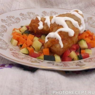 Фото рецепта - Голубцы в мультиварке в томатно-сметанном соусе - шаг 11