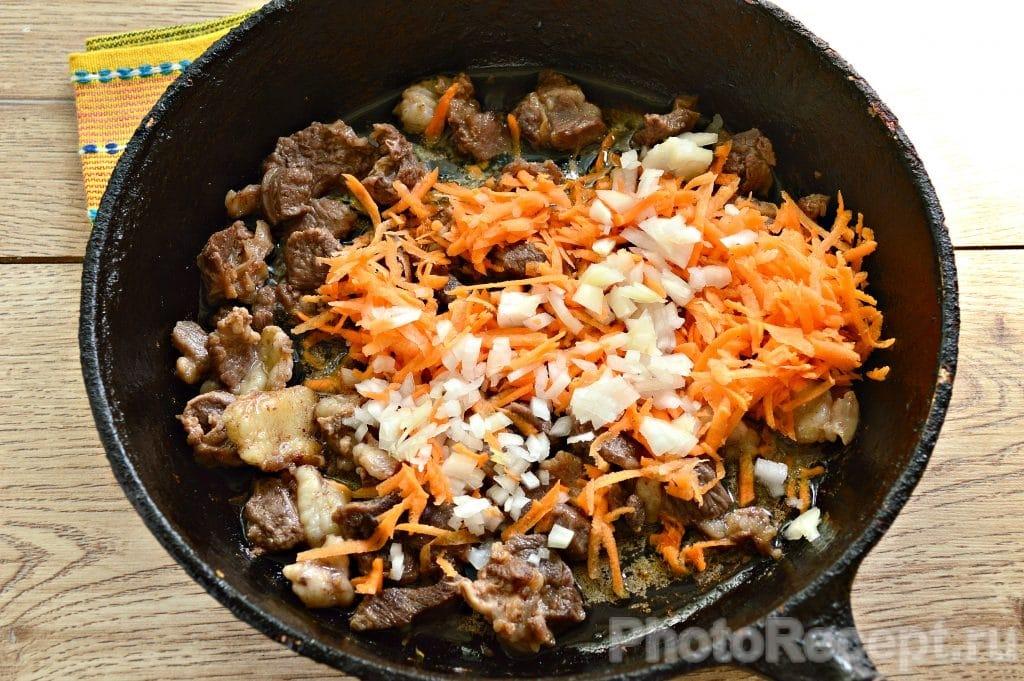 Фото рецепта - Овощное рагу с бараниной - шаг 3