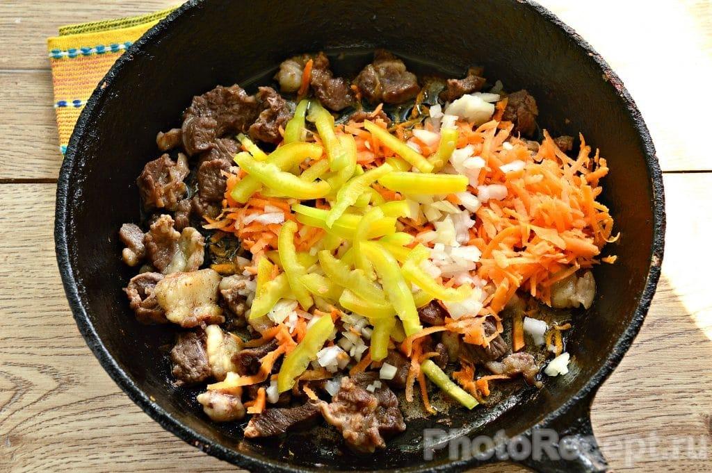 Фото рецепта - Овощное рагу с бараниной - шаг 4