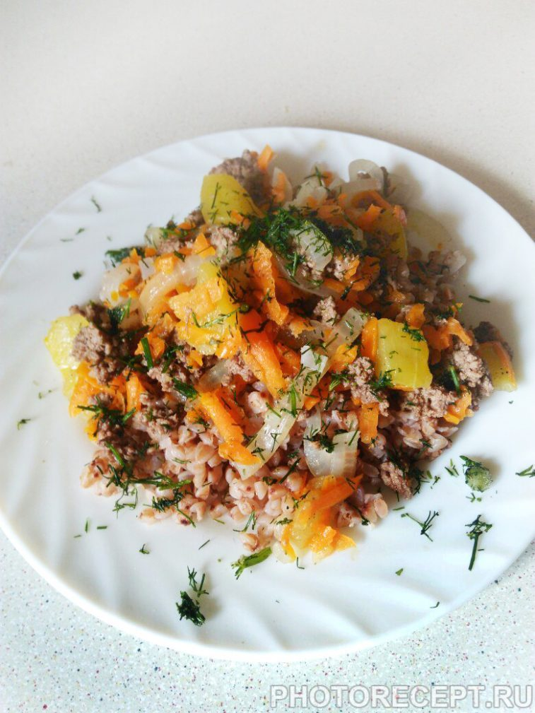 Фото рецепта - Подлива из фарша с овощами — быстро и легко - шаг 4