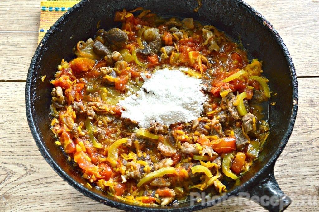 Фото рецепта - Овощное рагу с бараниной - шаг 6