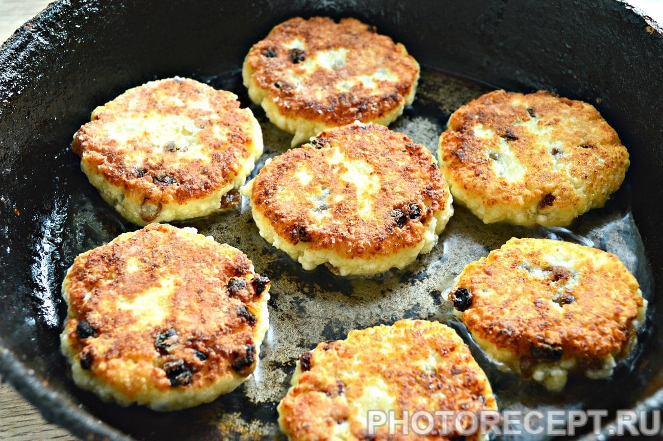 Сырники с изюмом пошаговый фото рецепт