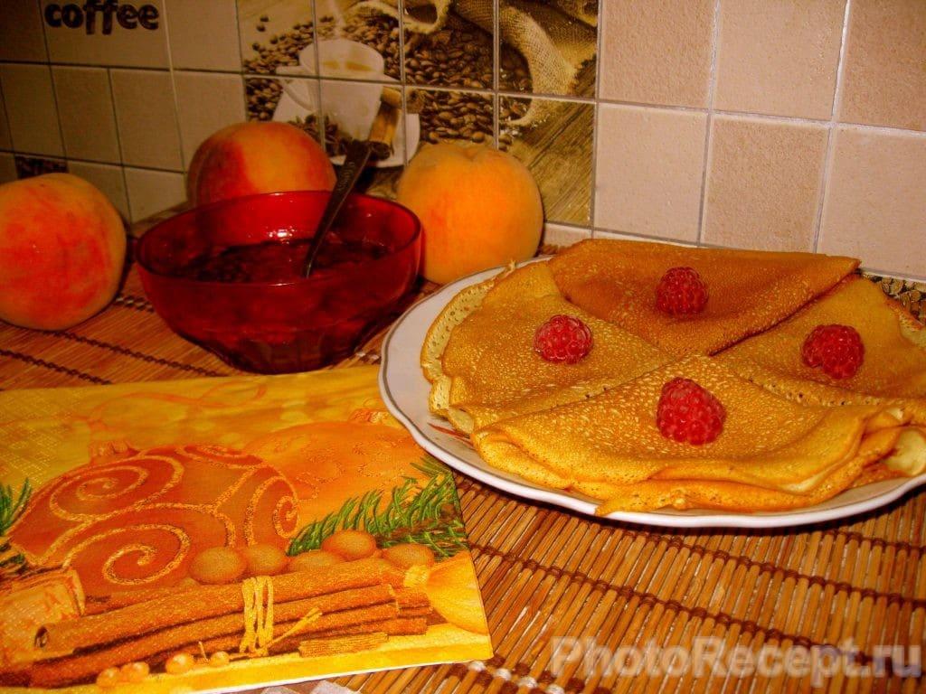 Фото рецепта - Ажурные блинчики на завтрак - шаг 7