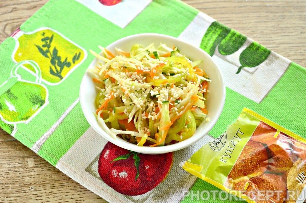 Фото рецепта - Салат с капустой и кунжутом - шаг 7