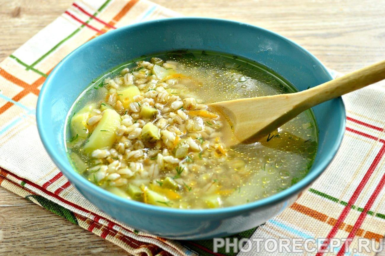 Рецепт рассольника с огурцами и рисом пошагово в