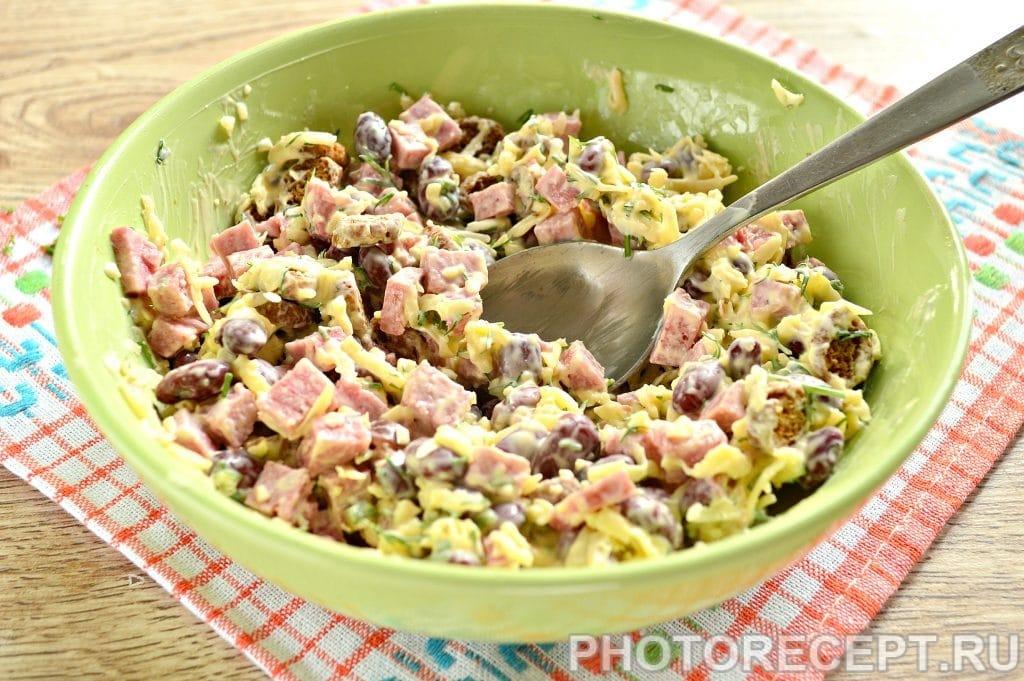 Салаты с фасолью фото рецепт пошаговый