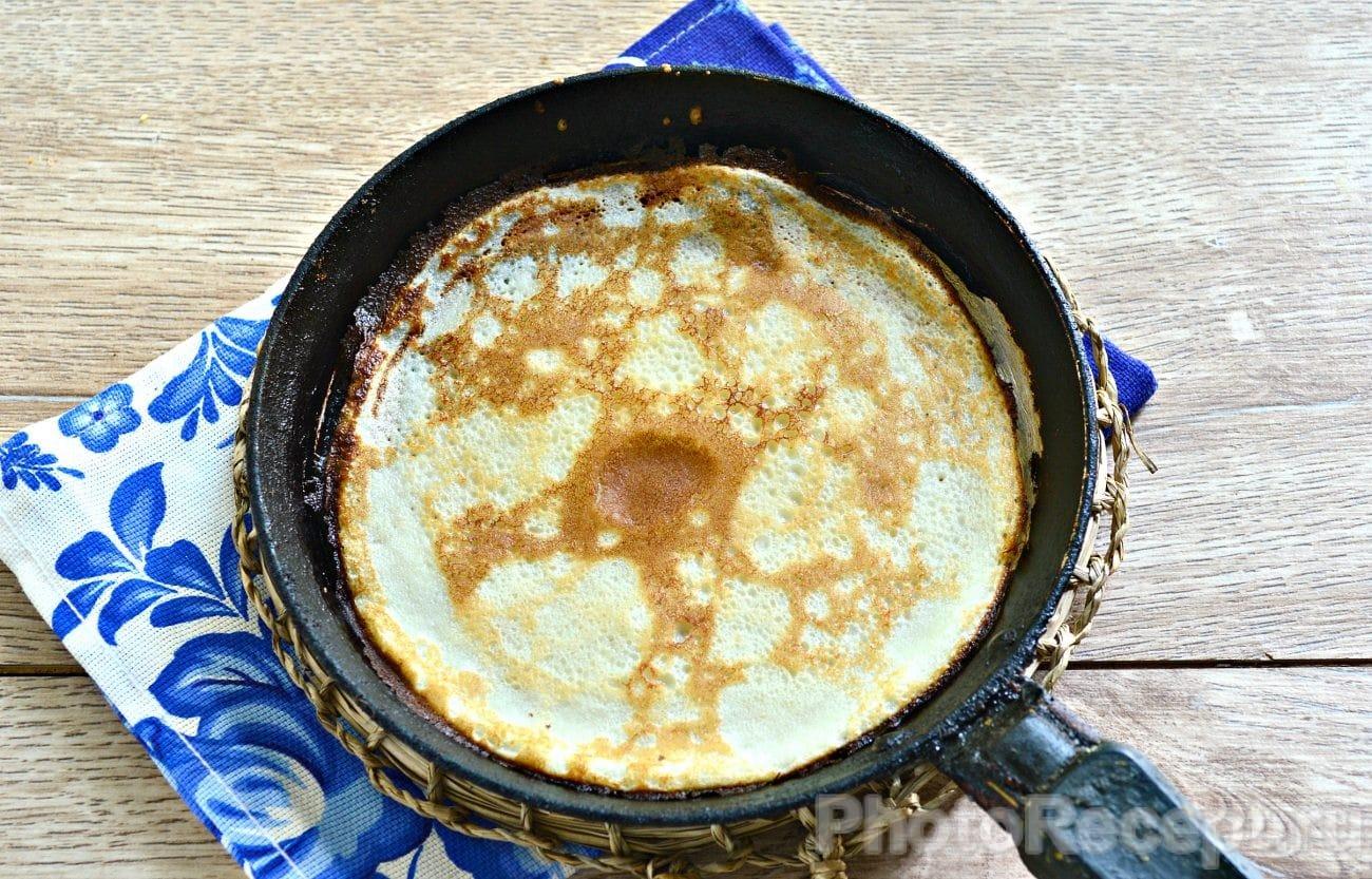 Быстрые блинчики на молоке рецепт с фото пошагово