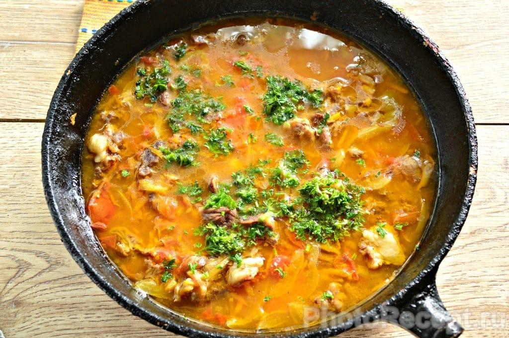 Фото рецепта - Овощное рагу с бараниной - шаг 8