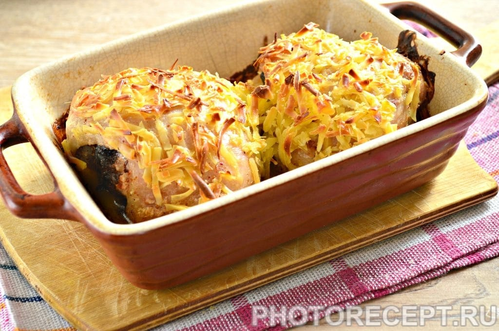 Фото рецепта - Куриные бедрышки в сметане под сырной корочкой - шаг 9