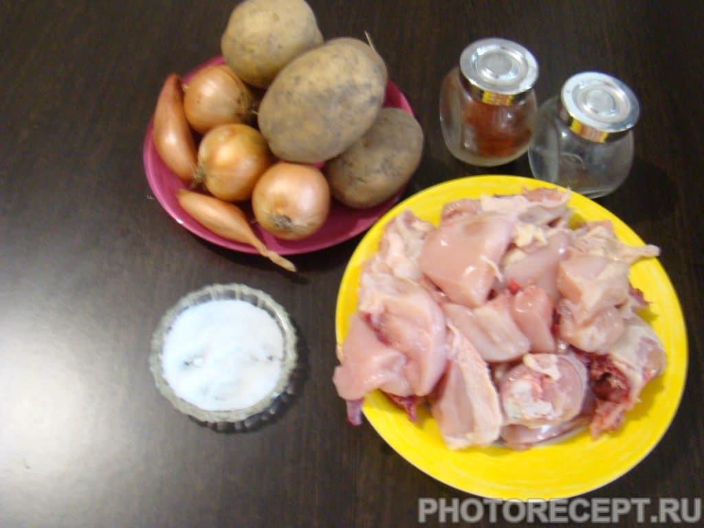 Фото рецепта - Курица с картошкой запеченная в духовке - шаг 1