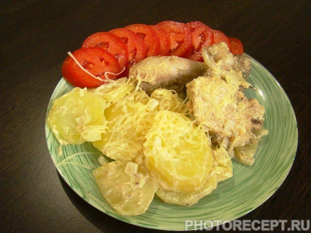 Фото рецепта - Курица с картошкой запеченная в духовке - шаг 9