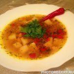 Гречневый супчик с овощами