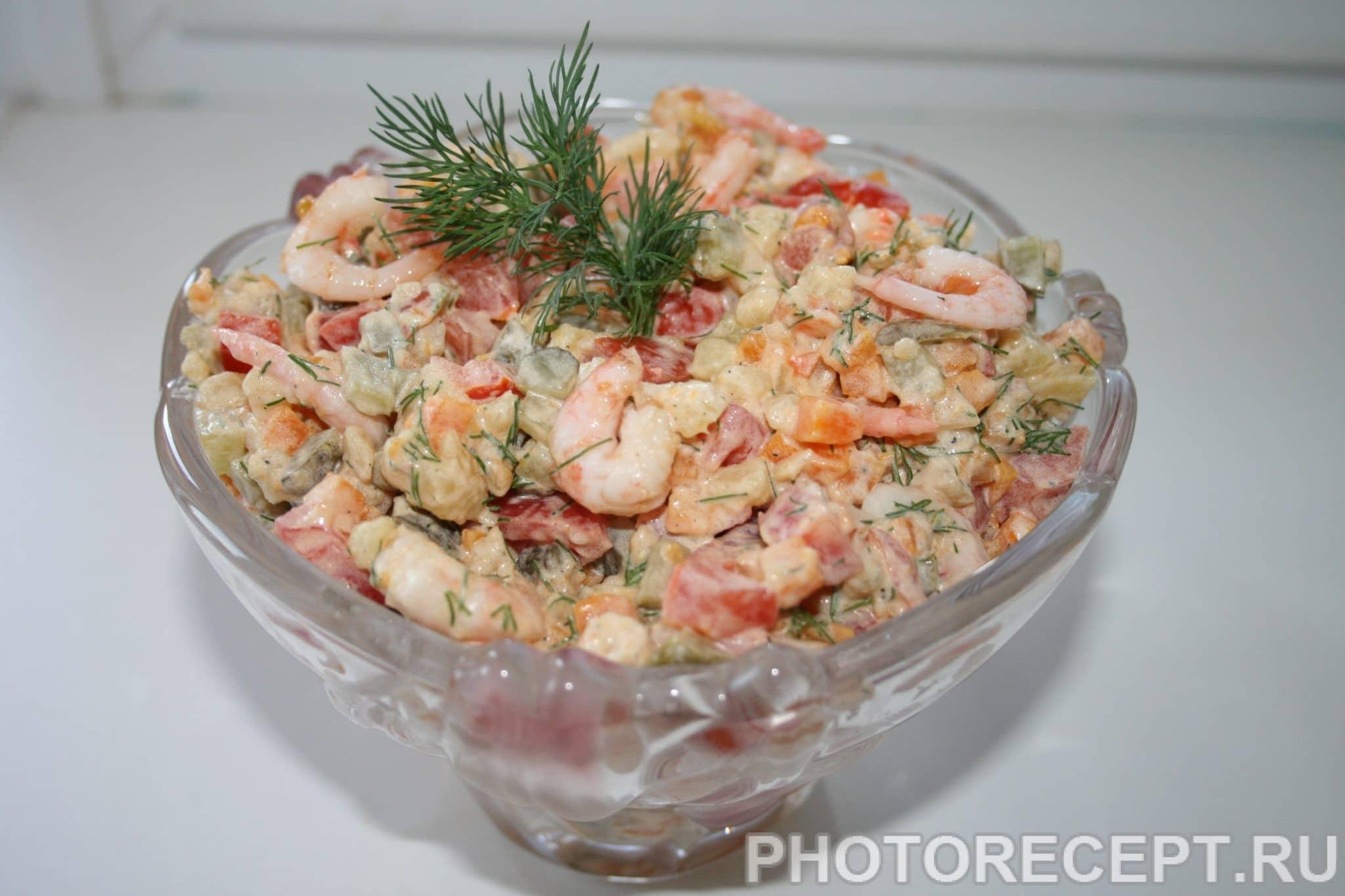 Салат из креветок рецепт очень вкусный пошаговый