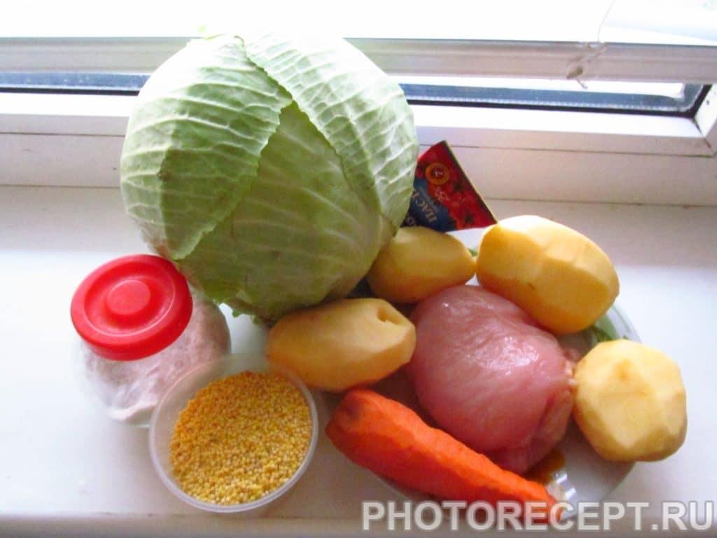 Фото рецепта - Капустняк – борщ с пшеном в мультиварке - шаг 1