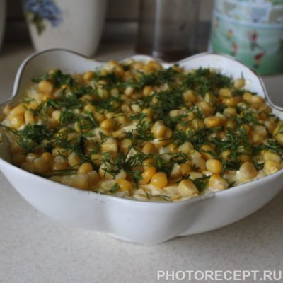 Салат «Бабье лето» с лесными грибами - рецепт с фото