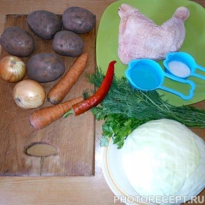 Фото рецепта - Щи из свежей капусты и курицы - шаг 1